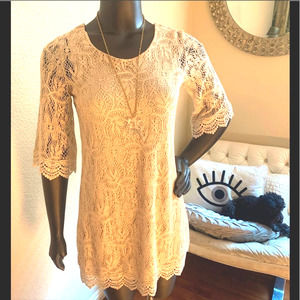 H&M | Cream Lace Boho Dress New